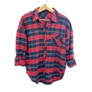 Mine Red and Black Plaid Button Down Shirt